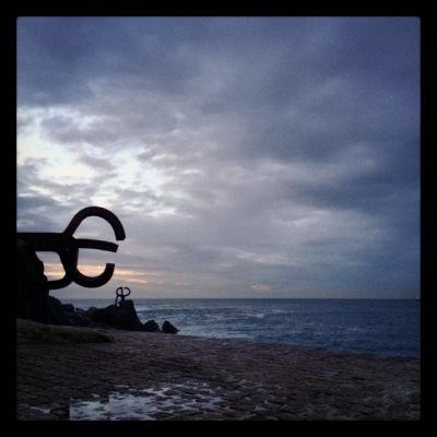 At the end of a long walk down San Sebastian beach