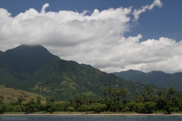 The coast of Bali near Permuteran