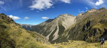 A 1000-meter climb on day two on the Angelus Circuit in Nelson Lakes National Park