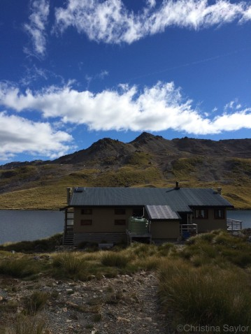 Angelus Hut, a welcome site after a long day trekking up