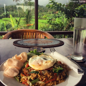 Mie Goreng, one of my favorite Indonesian dishes of fried noodles
