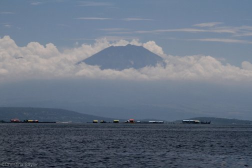 Indonesia: Volcano off the north coast of Bali
