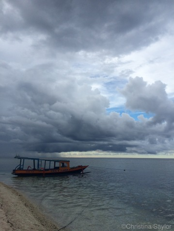Boat on Gili Meno, the smallest and most peaceful of the three Gili Islands