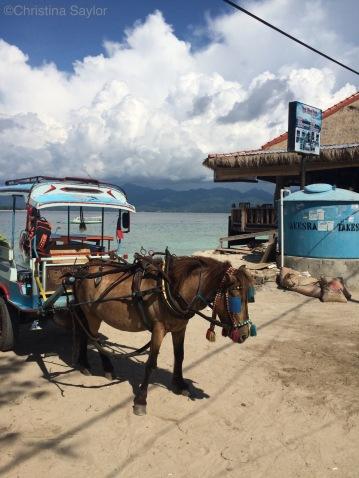 Local transportation on Gili Air