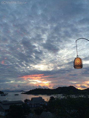 Sunset from Labuan Bajo on Flores