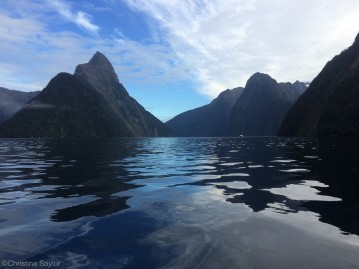 Kayaking on Milford Sound