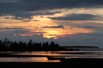 Sunset on North Sulawesi