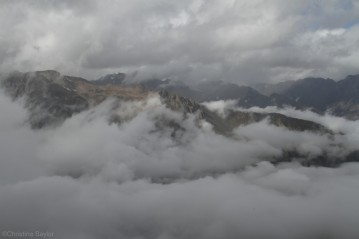 Above the clouds on the Mueller Ridge