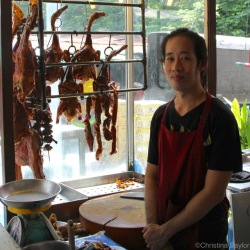 Chef at Charoen Wiang Pochana in Bangkok where roasted duck is the specialty