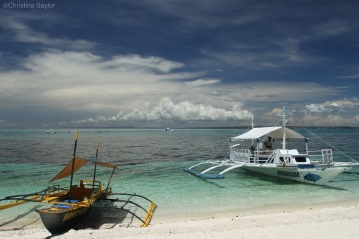 Bancas (traditional boats of the Philippines) on Malapascua