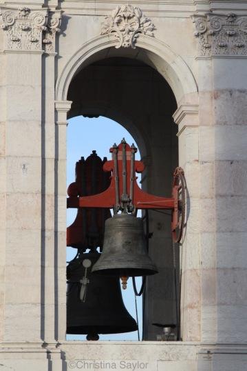 Bell tower of Basilica Estrela in Lisbon