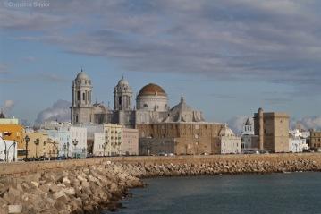Taking the coastal walk around Cadiz