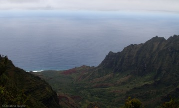 Coastal hike on Kauai