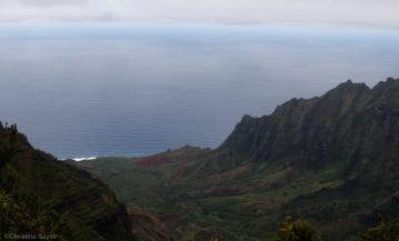 Coastal hike on Kauai