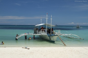 A common way of cooling off on Malapascua