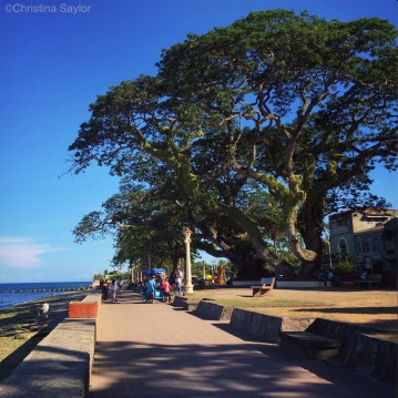 Checking out Dumaguete, the big city on Negros