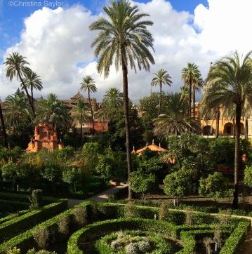 Gardens at the Real Alcázar Sevilla