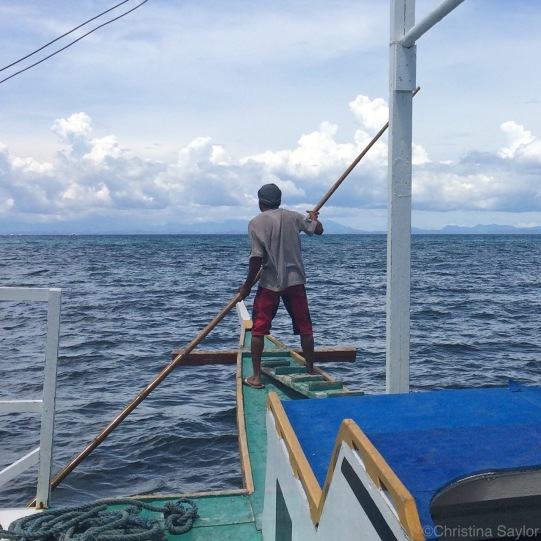 On the ferry to Malapascua with high hopes of diving with thresher sharks