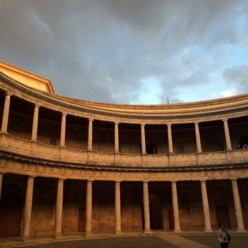 Palacio de Carlos V at Alhambra in Granada