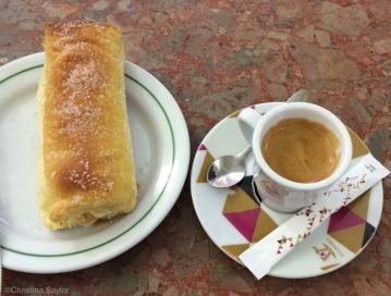 Pastel de Sintra (special pastry of Sintra) at Cafe a Piriquita