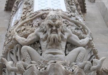 Poseidon at the Palácio Nacional da Pena in Sintra