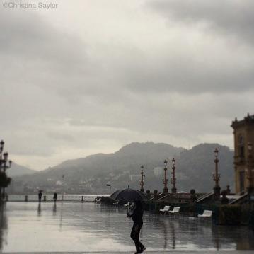 Rainy day in San Sebastian