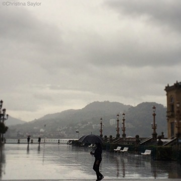 Rainy day in San Sebastian