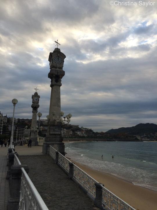 San Sebastian Beach in Basque country