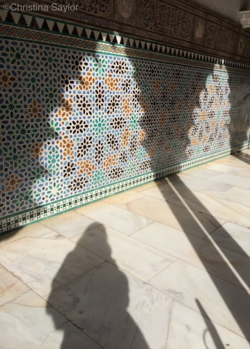 Shadow selfie at Real Alcázar Sevilla