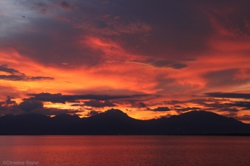 Sky on fire leaving Palawan at sunset