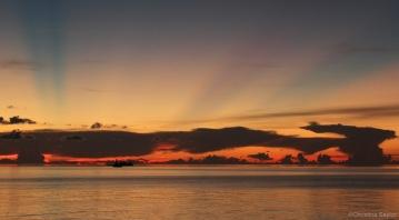 Sunset in Tubbataha Reefs Natural Park