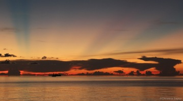Sunset in Tubbataha Reefs Natural Park