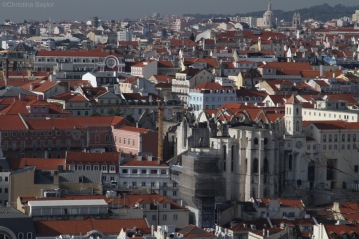 View from Castelo de São Jorge (Castle George) in Lisbon