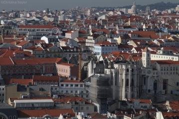 View from Castelo de São Jorge (Castle George) in Lisbon