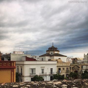 View from the Casa Grande Hotel in Jerez de la Frontera in southern Spain