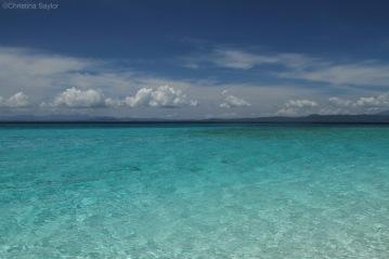 Warm waters on Kalanggaman Island
