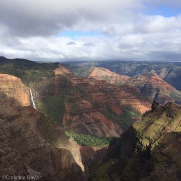 Waterfall in the Waimea Canyon on Kauai