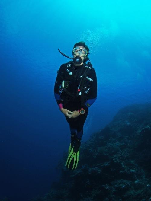 Underwater near North Sulawesi in Indonesia around dive #110. Photo (c) Timon Bogumil