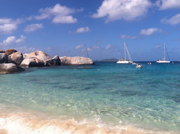 On a day-sail trip in the Virgin Islands