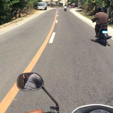 On the road with motorcycle taxi