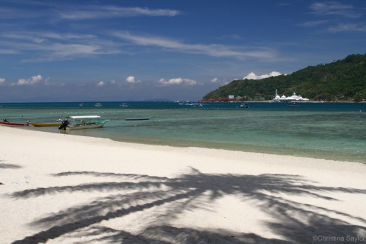 Palm Shadows on Pulau Perhentian Besar