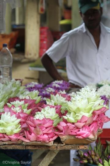 Flower Vendor at a temple