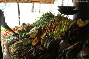 Food market in Galle