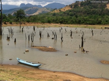 A lake during the dry season in the Central Province