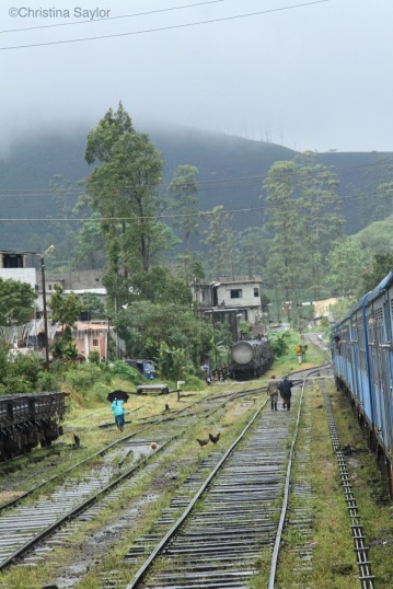 View from the train at a stop en route to Colombo
