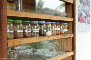 Spices in Karuna's cooking class at Sonja's Health Food near Galle