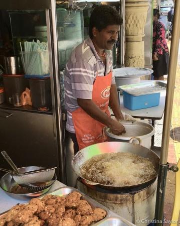 Food vendor in Brickfields neighborhood, Kuala Lumpur
