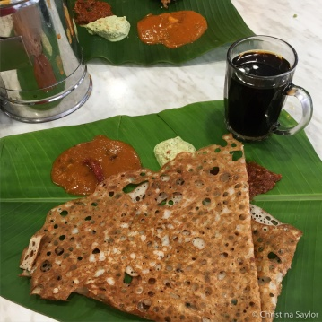Roti canai breakfast in KL