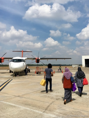 Catching a flight from Kuala Besut to Langkawi