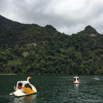 Fun in a lagoon during an island hopping tour around Langkawi